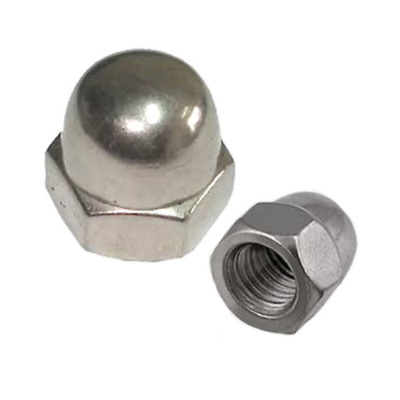 M4 M5 M6 M8 M10 M12 Hex Dome Head Cap Nuts Din 1587 A2 Stainless Steel