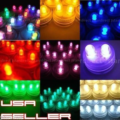 25 SUPER Bright Dual LED Tea Light Submersible Floralyte Party Wedding USA FAST