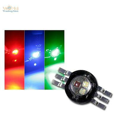 5 x Highpower LED Chip 3W RGB, rot grün blau, Fullcolor Power Leuchtdiode 350mA