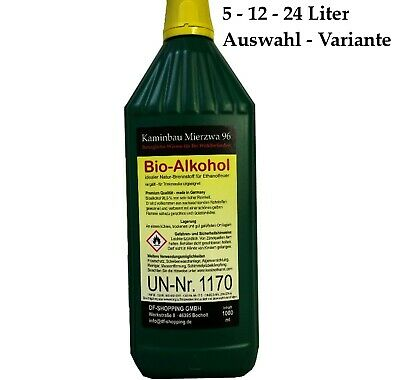 Bio ethanol Bio Alcohol - Choose from 5, 12, 24 liters. For ethanol fireplace
