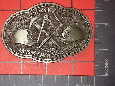 ^ 2000 KANSAS  SMALL MINE SAFETY SHOOT OUT Belt Buckle