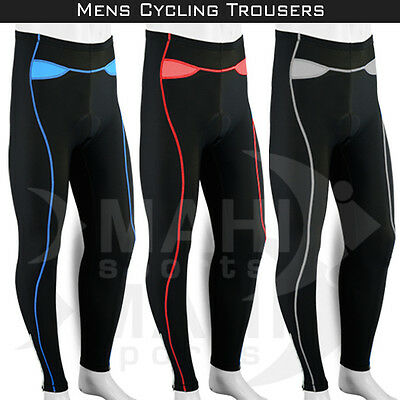Mens Cycling Tights Pants Winter Thermal Cycle Trousers Legging Coolmax Padded