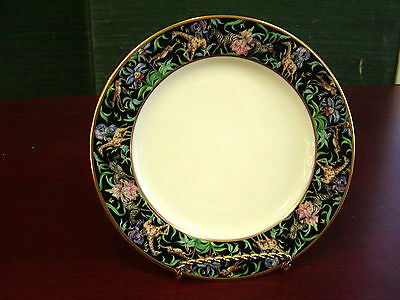Franciscan Menagerie Black Bread & Butter Plate NEW