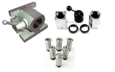 5C H/V ANGLE COLLET FIXTURE & 5pc 5C HEX & SQUARE COLLET BLOCK SET & 6pc COLLET