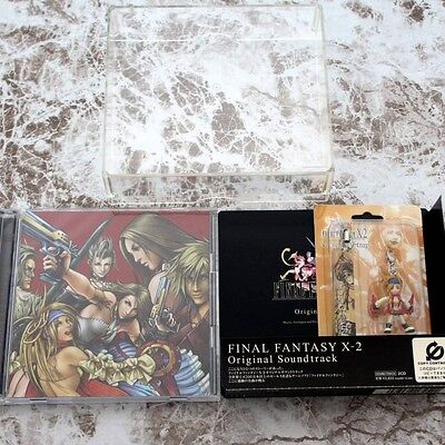 Final Fantasy X-2 Limited Edition Soundtrack Music Japan CD+Rikku Figure Strap
