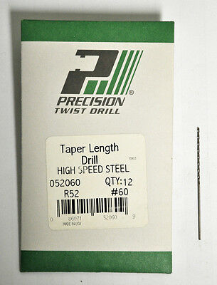 "Precision Twist Drill #73 .0240/""  0.6096 mm HSS Taper Length Drill 6 pcs New USA"