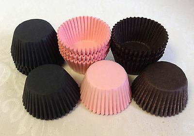100 x high quality paper MINI muffin / cup cake / baking cases - various colours