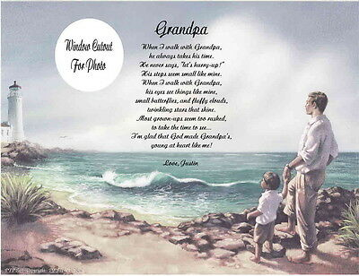 Grandpa Grandfather Personalized Poem Gift For Birthay or Christmas