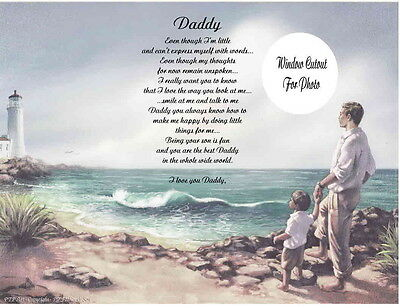 Daddy Personalized Poem Gift For Father's Day-Christmas-Birthday From Little Boy