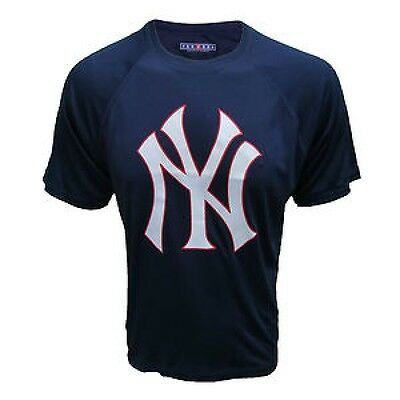 "New Ny Majestic Major League Baseball Yankees T Shirt Top Mens Xs 34"" Chest"