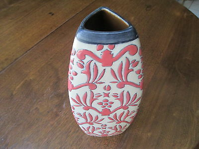 "VTG ""ORANGE BROCADE COLLECTION CHINA""  10 3/4"" VASE-FORMALITIES BY BAUM BROTHERS"