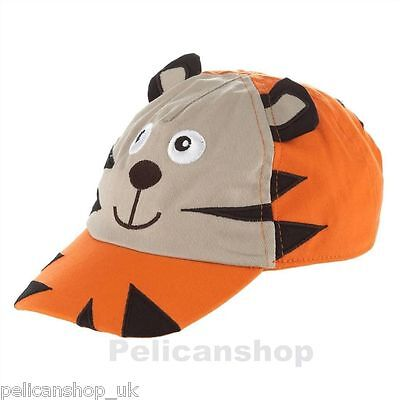 Baby Tiger Baseball Hat Adjustable Sun Cap Size 12-24 Months Bluezoo Orange