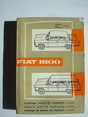 FIAT 1800 - Mechanical Spares List - 1960 - Multilingual - #110.294-11-1960-1500