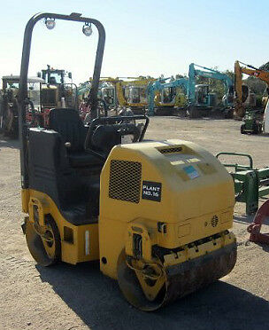 2008 Ingersoll Rand Dd16 Dual Smooth Drum 1.6 Tonne Vibratory Compact Roller
