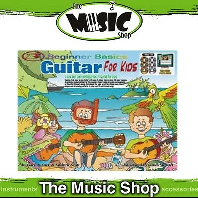 New Beginner Basics Guitar for Kids Music Tuition Package - Book, 3 CDs & 3 DVDs