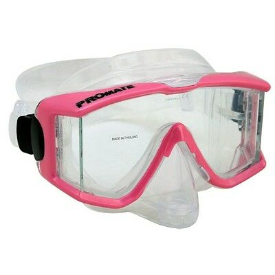 NEW Panoramic Edgeless Purge Dive Mask Scuba Snorkeling PINK Side View