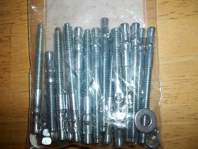 1/4 X 3-1/4 Wedge Style Expansion Anchors 38403 Lot of 15