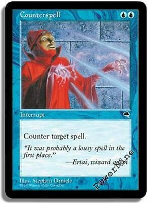 4X Counterspell LP Tempest MTG Blue Common FREE TOKEN