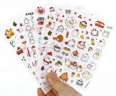 6 sheet Molang rabbit Sticker Ver.3 deco Diary Planner DIY Scrapbooking Kawaii