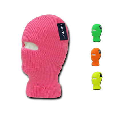 Boys Girls Youth Kids Neon Ski Face Mask Facemask Balaclava Beanies Caps Hats
