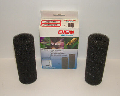 EHEIM 2615300 AIR FILTER FILTER CARTRIDGES. 2 PACK, Quarantine or Breeder tanks