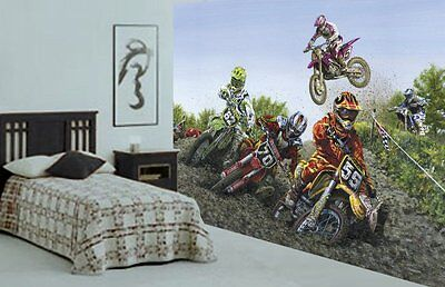 Motocross Extreme Sport-Wall Mural-10.5'wide by 8'high