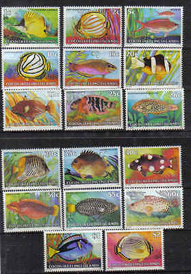 STAMPS AUSTRALIA COCOS (KEELING) ISLAND 1979 1c - $2,- FISH SET ( MLH ) lot 701a