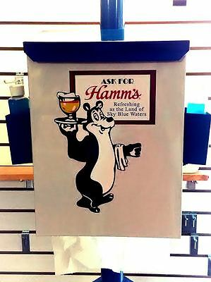 Vintage Hamm's Beer  Reproduction Towelbox Booth Mancave Garage Sascha Beer Bear