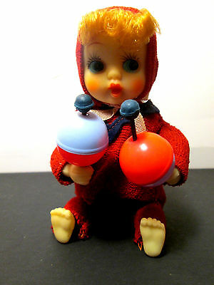 Rare Windup Baby Toy with Rattles