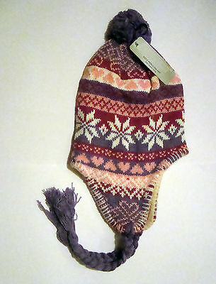 Small girls Peru style lined winter hats.warm,comfy and stylish childrens wear