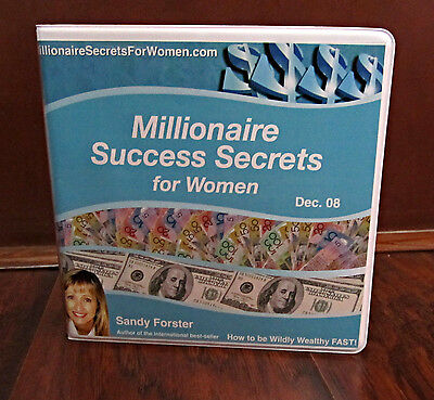 Millionaire Success Secrets For Women–11 Cd Audio Set–Dec 2008-Sandy Forster