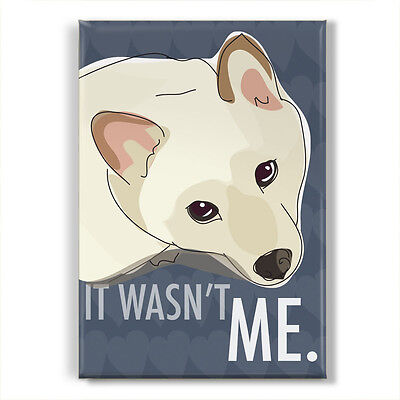 Cream Shiba Inu Gifts Refrigerator Magnets with Funny Dogs - It Wasn't Me