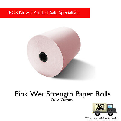 76x76 Wet Strength Paper Roll 25 Pack (Pink)