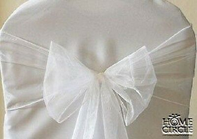 White Chair Bow Or Sash 6 Pieces/pack Ideal For Wedding Indoor Outdoor Party