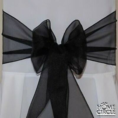 Black Chair Bow Or Sash 6 Pieces/pack Ideal For Wedding Indoor Outdoor Party