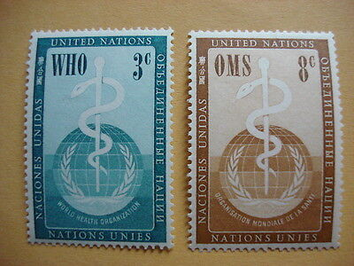 1956 WHO MNH Stamps from United Nations (New York)