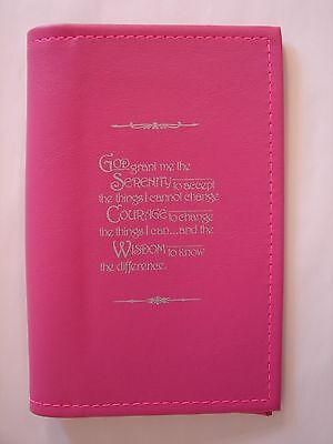"""Alcoholics Anonymous AA Big Book Paperback Serenity Prayer PINK Book  """"COVER"""""""