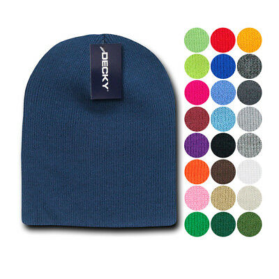 Decky Warm Winter Beanies Uncuffed Short Knit Ski Snowboard Caps Hats Unisex