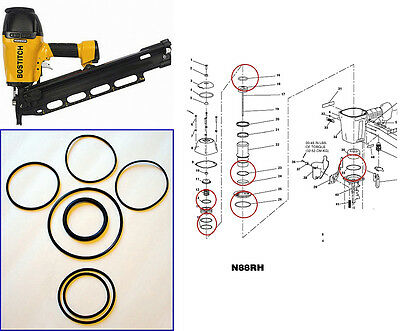 Bostitch Framing Nailer N88 N88RH O-ring Kit