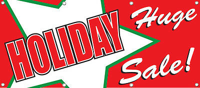 HUGE SALE PRINTED BANNER SIGN 96in X 36in RETAIL STORE SALE SIGNS Multi Color