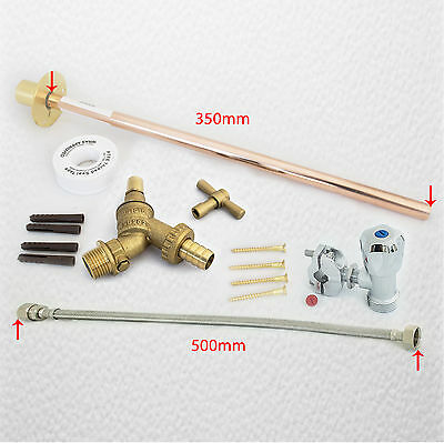 OUTDOOR GARDEN DIY TAP KIT SELF CUT Anti Vandal Brass