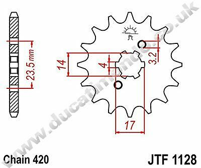 Aprilia RS4 50 12-13-14 15 tooth steel JT front sprocket JTF1128.15 420 pitch