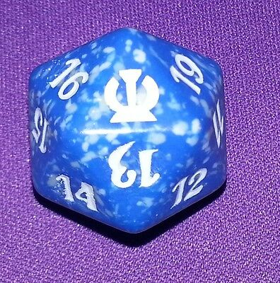 1 Blue SPINDOWN Die Theros - 20 sided Spin Down Dice MtG Magic the Gathering d20