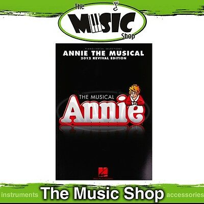 New Annie the Musical 2012 Revival Edition Music Book - Piano & Vocal Selections