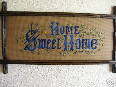 Victorian Style Punched Paper Motto KIT,Home Sweet Home in Blues