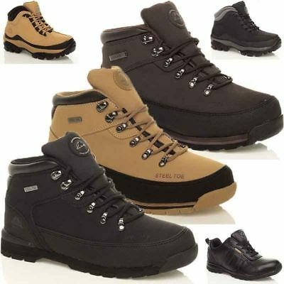 Mens Groundwork Leather Safety Steel Toe Cap Boots Work Trainers Hiking Shoes Sz