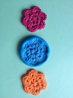 SMALL CROCHET FLOWER Mould Cupcakes Chocolate Sugarcraft Cake Topper  Fimo