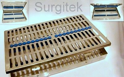 Sterilization Cassette Rack for 20 Dental Surgical Veterinary Instruments CE NEW