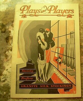 Vintage 1929 Plays & Players Erlanger Broad St Garrick Theatres Philadelphia PA