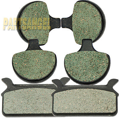 Front Rear Kevlar Carbon Brake Pads 1986-1999 Harley Ultra Electra Glide Classic